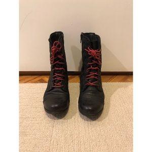 Adorable Black Combat Boots